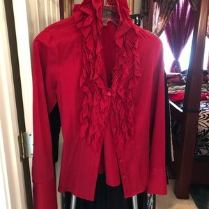 Tops - New Red Antonio Melani Ruffled Top